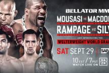 РЕЗУЛЬТАТЫ BELLATOR 206: MOUSASI VS. MACDONALD